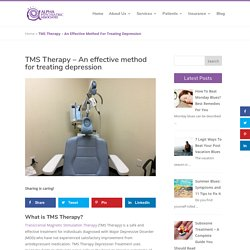 TMS Therapy Depression treatment