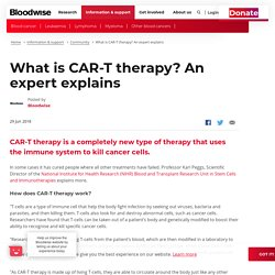 What is CAR-T therapy? An expert explains