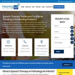 Speech Therapy For Infants