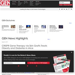 CRISPR Gene Therapy via Skin Grafts Treats Obesity and Diabetes in Mice