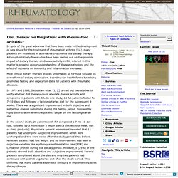 Diet therapy for the patient with rheumatoid arthritis?