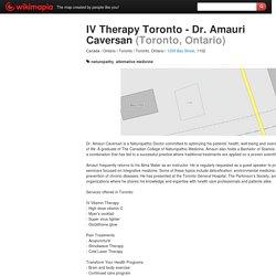 IV Therapy Toronto - Dr. Amauri Caversan - Toronto, Ontario