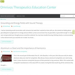 Sound Therapy with Tuning Forks and Crystal Singing Bowls