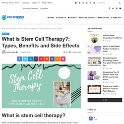 What is Stem Cell Therapy?: Types, Benefits and Side Effects