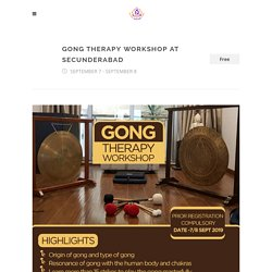 Gong Therapy Workshop at Secunderabad - Sound Healing India