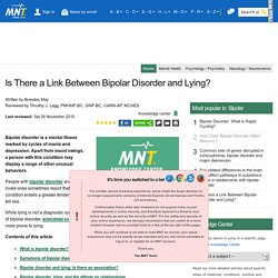 Is There a Link Between Bipolar Disorder and Lying?