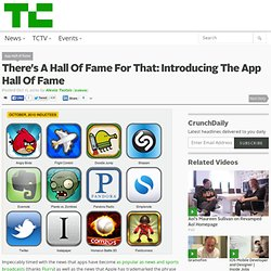 There?s A Hall Of Fame For That: Introducing The App Hall Of Fame