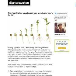 There's only a few ways to scale user growth, and here's the list