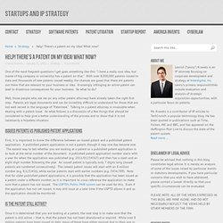 Help! There's a patent on my idea! What now? « Startups and IP Strategy