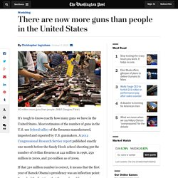 There are now more guns than people in the United States