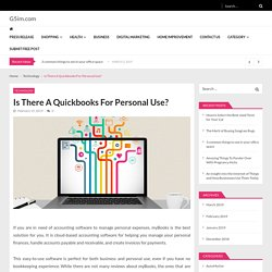 Is There A Quickbooks For Personal Use?
