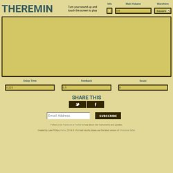 Theremin - A Playable Touch Synthesizer Using Web Audio API