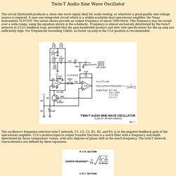 Art's Theremin Page: Twin-T Audio Sine Wave Oscillator