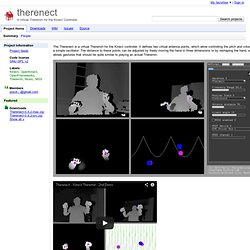 therenect - A virtual Theremin for the Kinect Controller