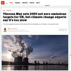 Theresa May sets 2050 net zero emissions targets for UK, but climate change experts say it's too slow