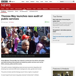 Theresa May launches race audit of public services