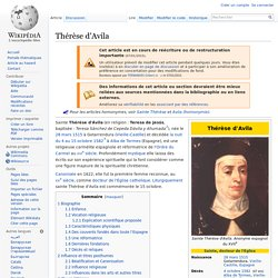 Thérèse d'Ávila