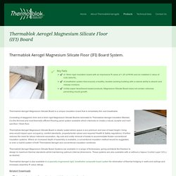 Thermablok Aerogel Magnesium Silicate Floor (IFI) Board - Thermablok UK