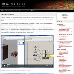 Thermal Components - DIVA for Rhino
