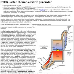 solar-thermal electric generator