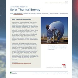 Solar Thermal Energy: Solar Thermal vs. Photovoltaic