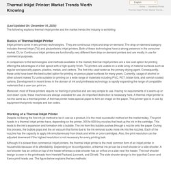 Thermal Inkjet Printer: Market Trends Worth Knowing