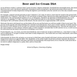 Beer and Ice Cream Diet