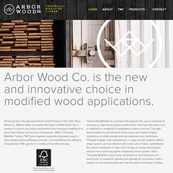 Thermally Modified Timber Sustainably Harvested and Produced in the Midwest, USA