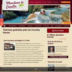 Thermes gratuites pas loin du Country House Marilena la Casella en Ombrie et en Toscane.