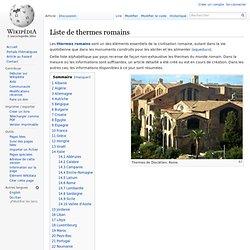 Liste de thermes romains