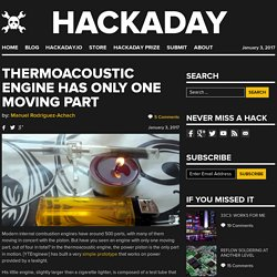 Thermoacoustic Engine has Only One Moving Part
