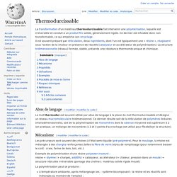 Thermodurcissable