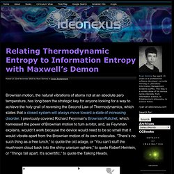 Relating Thermodynamic Entropy to Information Entropy with Maxwell's Demon | ideonexus.com