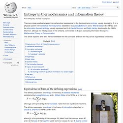 Entropy in thermodynamics and information theory