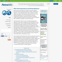 PEH:Thermodynamics and Phase Behavior -