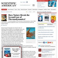 Does Nature Break the Second Law of Thermodynamics?