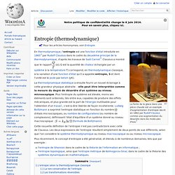 Entropie (thermodynamique)