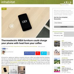 Your hot coffee could soon charge a phone with IKEA thermoelectric furniture