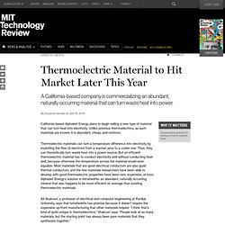 Cheaper Thermoelectric Materials