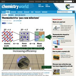 Thermoelectrics 'pass new milestone'