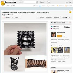 Thermoextensible 3D Printed Structures: Capabilities and Applications