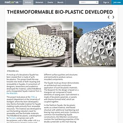 Thermoformable bio-plastic developed