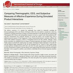Comparing Thermographic, EEG, and Subjective Measures of Affective Experience During Simulated Product Interactions