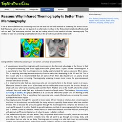 Reasons Why Infrared Thermography Is Better Than Mammography