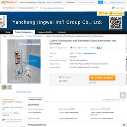 Galileo Thermometer with barometer,View Galileo thermometer with barometer, Product Details from Yancheng Jingwei Int'l Group Co., Ltd. on Alibaba.com
