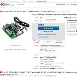 DC 12V Thermostat Thermomètre Interrupteur Module Température Capteur 50 110 ℃