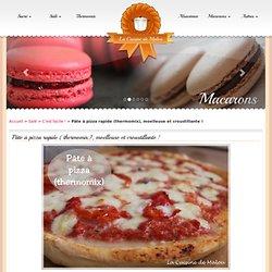 Pâte à pizza rapide (thermomix), moelleuse et croustillante !