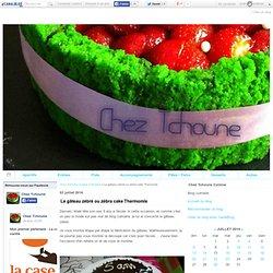 Le gâteau zébré ou zébra cake Thermomix - Chez Tchoune Cuisine