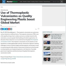 Use of Thermoplastic Vulcanizates as Quality Engineering Plastic boost Global Market