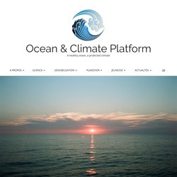 L'OCÉAN, THERMOSTAT DE LA PLANÈTE – Ocean & Climate Platform